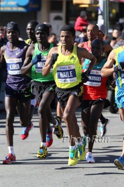 Haile Gebrselassie running in New York. ©www.photorun.net