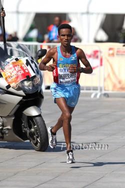 Ghirmay Ghebreslassie is the new Marathon World Champion. ©www.PhotoRun.net