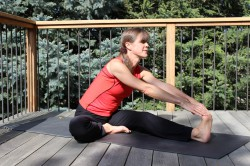 Head Beyond the Knee pose. © www.Take The Magic Step