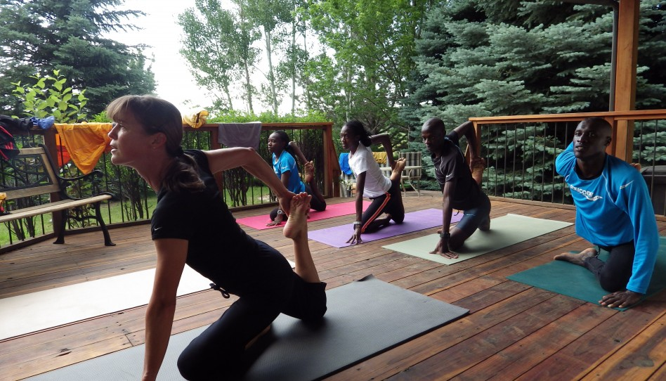Yoga With My Fellow Runners From Kenya
