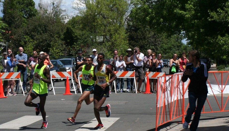 Afewerki Berhane and Mamitu Daska Are Victorious at Inspirational BolderBOULDER