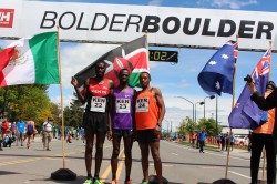 Lani Rutto, Allan Kiprono, and Isaac Mukundi Mwangi of Team Kenya. After two 1st and one 2nd place in the past three years, Allan finished third after a courageous race. © Oliver Hoffmann