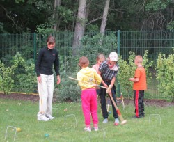 Croquet with the children from the Ukraine. © Take The Magic Step®