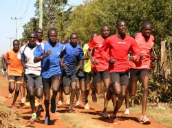 Our friends from Kenya running relaxed during one of their long training sessions. © Take The Magic Step