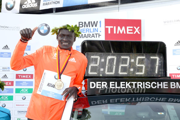 Dennis Kimetto Sets New World Record, Breaks the 2:03 Barrier, at the Berlin Marathon