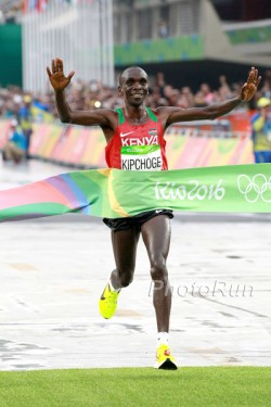 Eliud Kipchoge is new Olympic marathon champion. © www.PhotoRun.net
