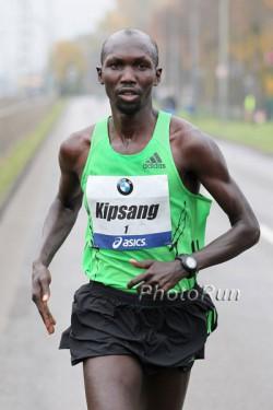 Wilson Kipsang, seen here at 2012 Frankfurt Marathon, will run the Berlin Marathon for the first time. ©www.PhotoRun.net