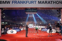 Wilson Kipsang won the 2011 Frankfurt Marathon for the second consecutive time and set a course record. © www.photorun.net
