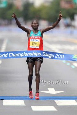 Abel Kirui wins in Daegu. ©www.PhotoRun.net
