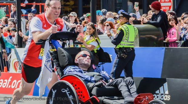 Team Hoyt Overcame an On-Course Challenge to Reach the Finish Line in Boston