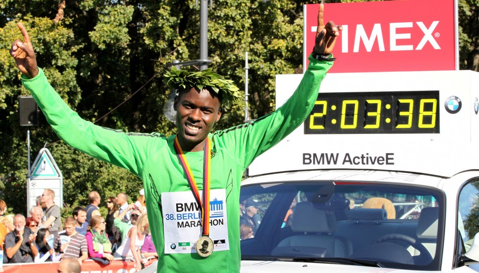 Patrick Makau Sets a New Marathon World Record in 2:03:38