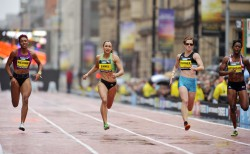 The women's 150m competition at the Great CityGames. © Great CityGames/Pete Langdown