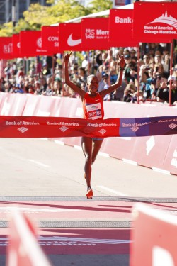 Rita Jeptoo runs the fastest time in the world this year. ©Bank of America Chicago Marathon