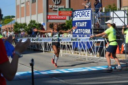 Meb Keflezighi placed first in the men's race. © Courtesy of the Bellin Run