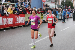 Amela Terzic needed a sprint finish to defeat Irina Mikitenko. ©Andreas Maringer/Peuerbach