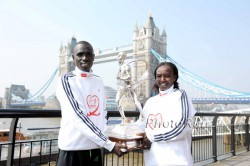 The 2011 London Marathon champions, Emmanuel Mutai and Mary Keitany, will be at the starting line of the New York City Marathon. © www.photorun.net