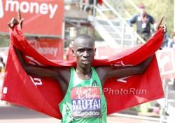 Emmanuel Mutai won the London Marathon last Sunday. ©www.PhotoRun.net