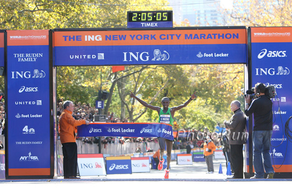 Geoffrey Mutai Improves the Course Record in New York