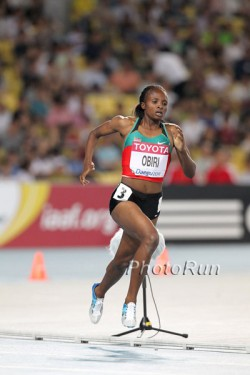 Hellen Obiri, shown here at the 2011 World Championships, proved victorious in the women's race. © www.photorun.net