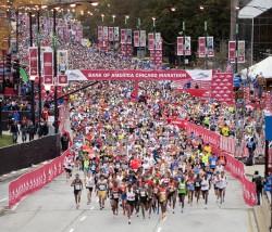 The start of the 2012 Chicago Marathon. ©Bank of America Chicago Marathon