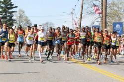 The start of the elite men's Boston Marathon last year. ©www.PhotoRun.net