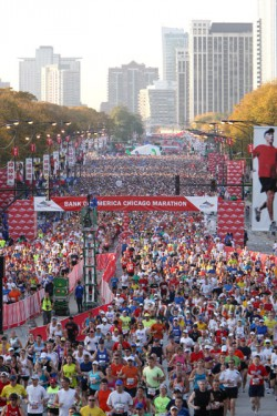 The start of the 2010 Chicago Marathon. © www.photorun.net