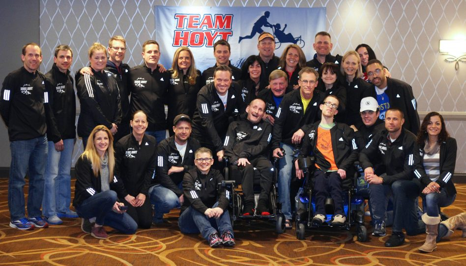 Rick Inspires Team Hoyt to Conquer a Cold, Rainy Boston Marathon 2018
