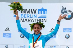 Tirfi Tsegaye triumphed in Berlin with the official world's best of the year. © www.PhotoRun.net