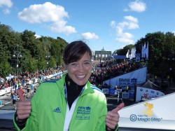 """Thumbs Up"" for the 40th anniversary of the Berlin Marathon in 2013. © Take The Magic Step"