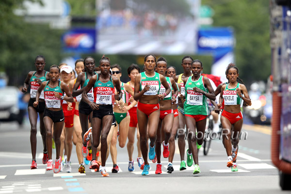 WCh Results: Record Kenyan Sweep in the Women's Marathon