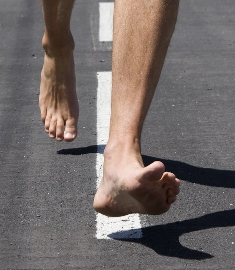 Running Barefoot in Berlin Marathon?