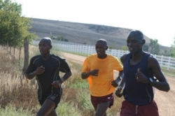 KIMbia's Evans Rutto, James Koskei and Christopher Cheboiboch will contest the Chicago Marathon on October 7. © www.ChasingKimbia.com