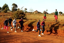 KIMbia runners training in Iten. The normally peaceful town has been rocked by post-election violence. © www.PhotoRun.net