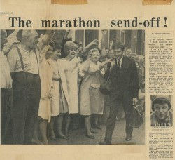 September 1964: The marathon send-off! © Courtesy of David Wright