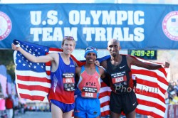 The U.S. Olympic Team: Ryan Hall, Meb Keflezighi, and Abdi Abdirahman. ©www.PhotoRun.net
