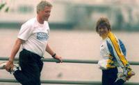 Bill Clinton und Uta. ©AP